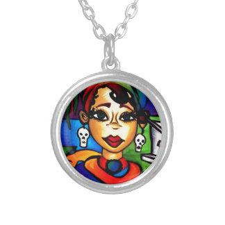 Marie Laveau Silver Plated Necklace