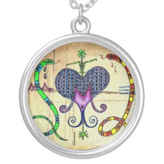 Marie Laveau Veve Silver Plated Necklace