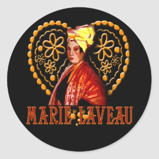 Marie Laveau Voodoo High Priestess Round Sticker