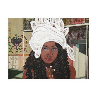 Marie Laveaux in the French Quarter Canvas Print