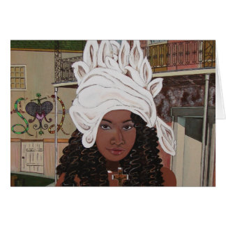 Marie Laveaux in the French Quarter Card