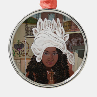 Marie Laveaux in the French Quarter Metal Ornament
