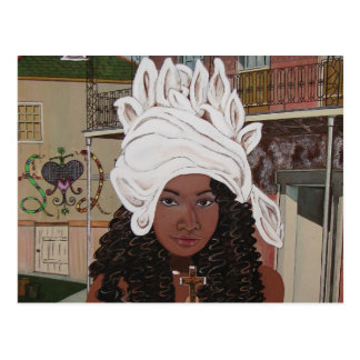 Marie Laveaux in the French Quarter Postcard