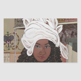 Marie Laveaux in the French Quarter Rectangular Sticker
