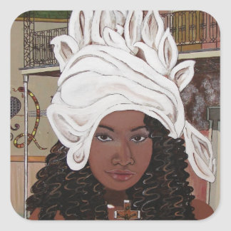 Marie Laveaux in the French Quarter Square Sticker