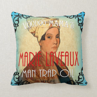 Marie Laveaux Man Trap Art Pillow