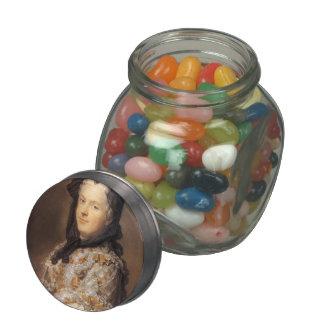 Marie Leszczynska by Maurice Quentin de La Tour Glass Candy Jar