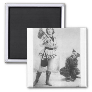 Marie Lloyd  as Dick Whittington in 1898 2 Inch Square Magnet