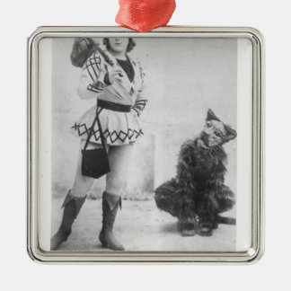 Marie Lloyd  as Dick Whittington in 1898 Metal Ornament
