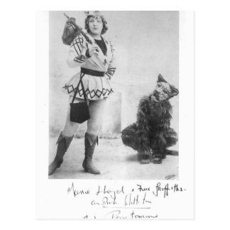Marie Lloyd  as Dick Whittington in 1898 Postcard