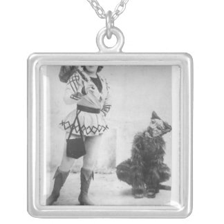 Marie Lloyd  as Dick Whittington in 1898 Silver Plated Necklace
