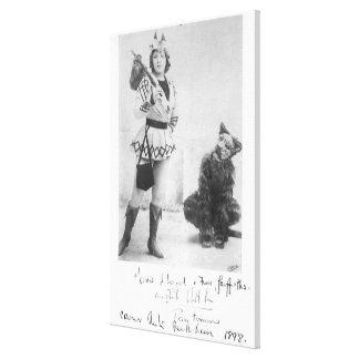 Marie Lloyd como Dick Whittington en 1898 Impresión En Lona