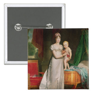 Marie Louise  and the King of Rome 2 Inch Square Button