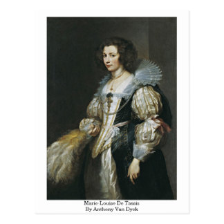 Marie-Louise De Tassis By Anthony Van Dyck Postcards