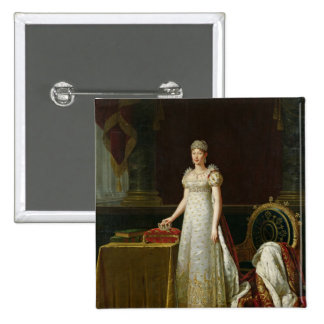 Marie-Louise  of Habsbourg Lorraine, 1814 2 Inch Square Button