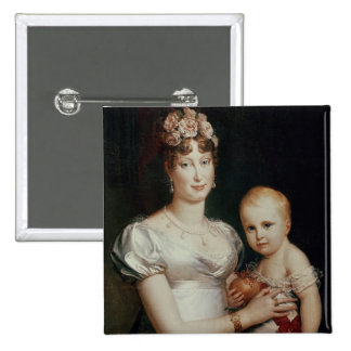 Marie-Louise  of Habsbourg-Lorraine 2 Inch Square Button