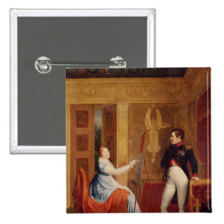 Marie Louise  of Habsbourg Lorraine 2 Inch Square Button