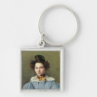 Marie Louise Sennegon, 1831 Llavero Cuadrado Plateado