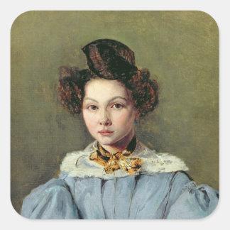 Marie Louise Sennegon, 1831 Pegatina Cuadrada