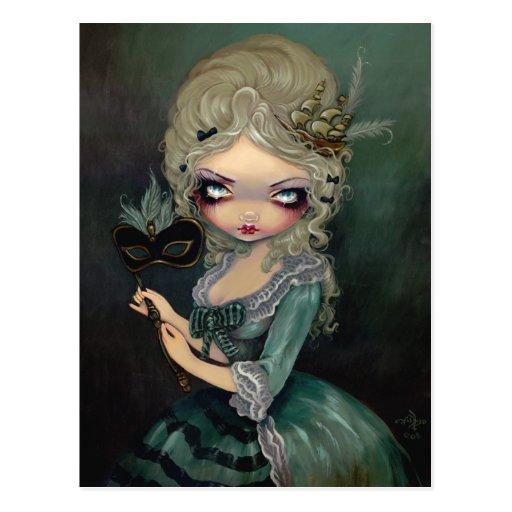"""Marie Masquerade"" Postcard"