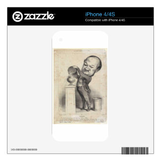 Marie-Michel Altaroche by Honore Daumier iPhone 4 Skin