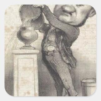 Marie-Michel Altaroche by Honore Daumier Square Sticker