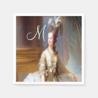 Marie Monogram Elegant French Chic Napkin