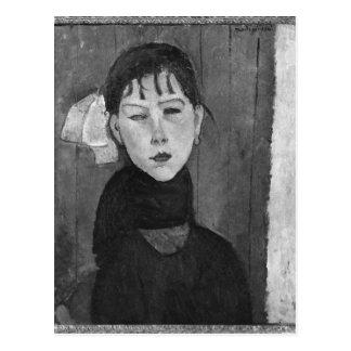 Marie mujer joven de la gente tarjeta postal