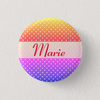 Marie name plate Anstecker Button