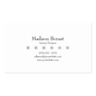 Marie - negro tarjetas de visita