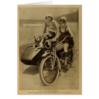 Marie Prevost June Haver 1918 portrait dog cycle Card