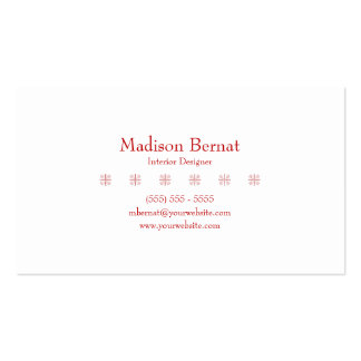 Marie - Red Double-Sided Standard Business Cards (Pack Of 100)