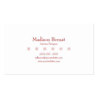 Marie - rojo tarjetas de visita