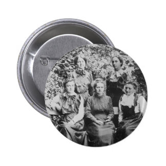 Marie Sklodowska Curie with her Four Students Button