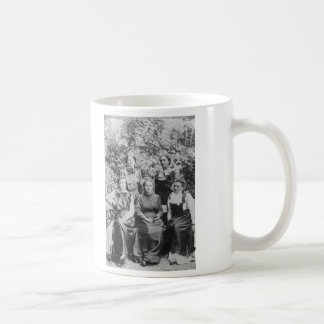 Marie Sklodowska Curie with her Four Students Coffee Mug