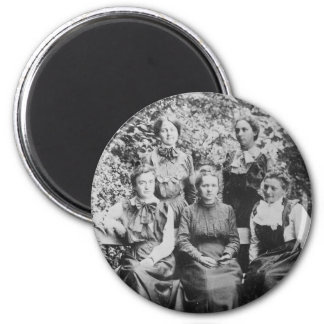 Marie Sklodowska Curie with her Four Students Magnet