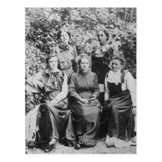 Marie Sklodowska Curie with her Four Students Postcard