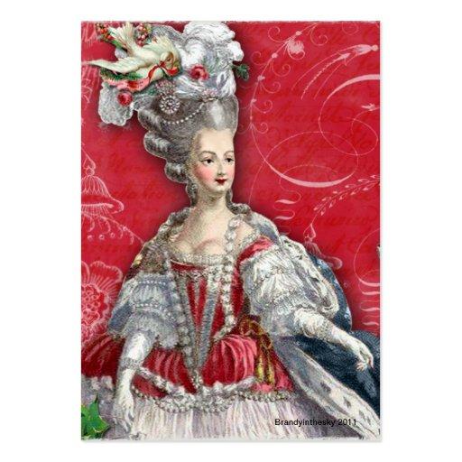 Marie tarjetas rojas y blancas de Antonieta de Toi Tarjetas Personales