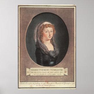 Marie-Teresa-Charlotte de Francia envejecida dieci Póster