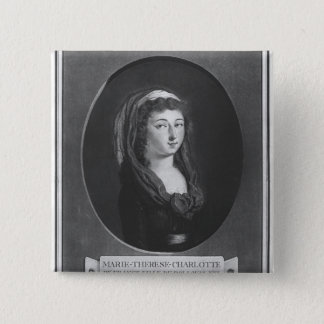 Marie-Therese-Charlotte de France, age 17 Button