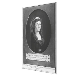 Marie-Therese-Charlotte de France, age 17 Canvas Print