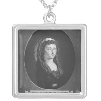 Marie-Therese-Charlotte de France, age 17 Silver Plated Necklace
