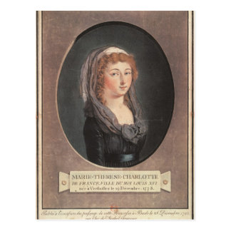 Marie-Therese-Charlotte de France  aged seventeen Postcard
