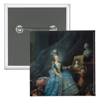 Marie-Therese de Savoie  1775 2 Inch Square Button