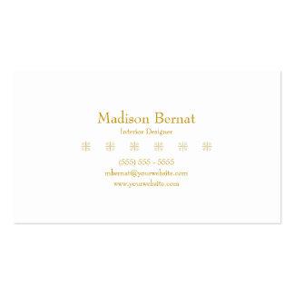 Marie - vara de oro amarilla tarjetas de visita