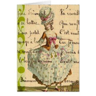 Marie, Vintage Lady Digital Art Greeting Card