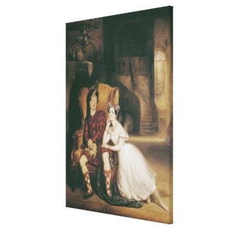 Marie y Paul Taglioni La Sylphide del ballet ' Impresion En Lona