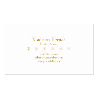 Marie - Yellow Goldenrod Double-Sided Standard Business Cards (Pack Of 100)