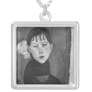 Marie, young woman of the people silver plated necklace