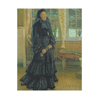 Marie Zacharias  Rainy Day, 1904 Canvas Print
